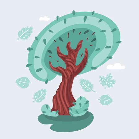 Vector illustration of tree Ilustração