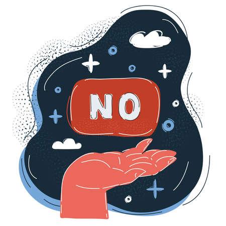 Vector illustration of NO on dark