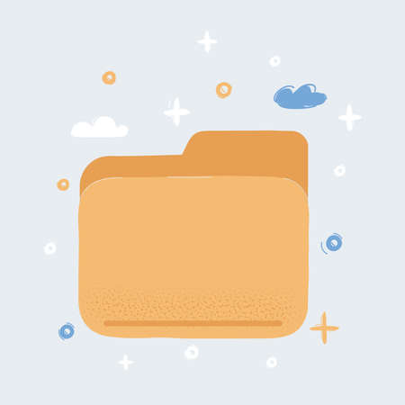 Vector illustration of Folder icon on white Иллюстрация