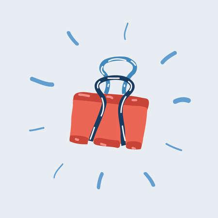 Vector illustration of paper clip on white backround