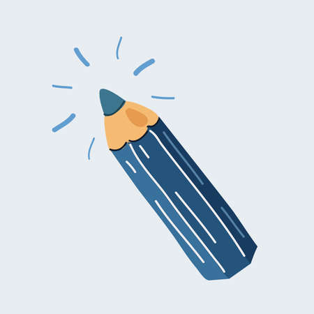Vector illustration of pencil on white backround.