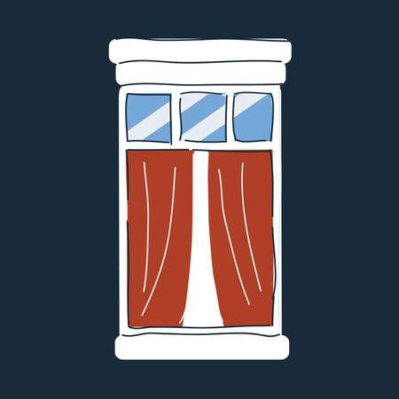Vector illustration of window icon on dark backround.