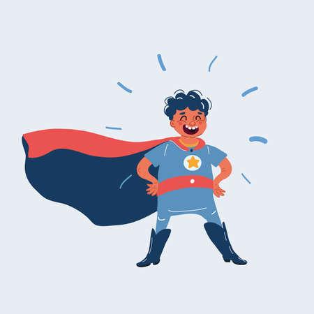 Vector illustration of hero boy Ilustracja