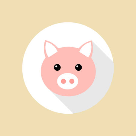 piglet: Pig flat design Illustration