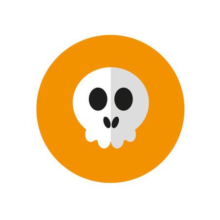 skull icon: Halloween. Flat design skull icon.