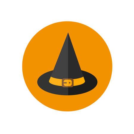 sombrero de mago: Víspera de Todos los Santos. Diseño de iconos sombrero de mago plana.