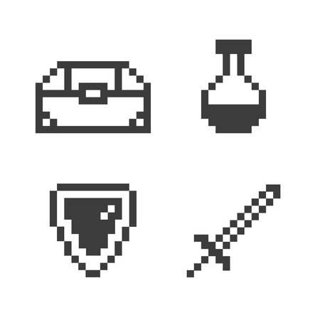 loot: Pixel game set