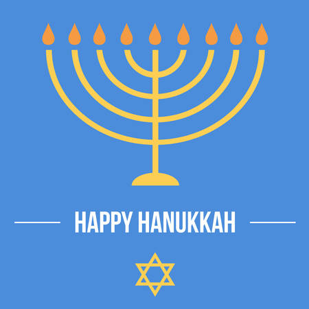 chanukkah: Hanukkah card template. Jewish traditional holiday.