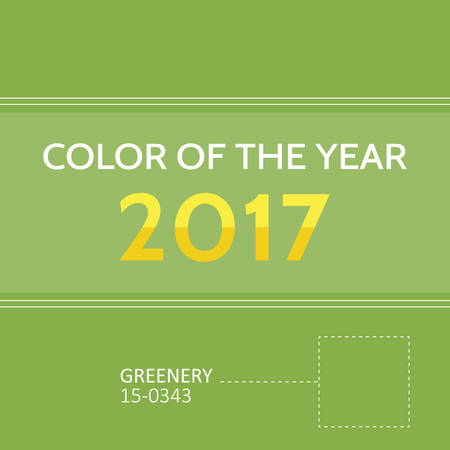 greenery: Color of the year 2017. Greenery trendy background, card.