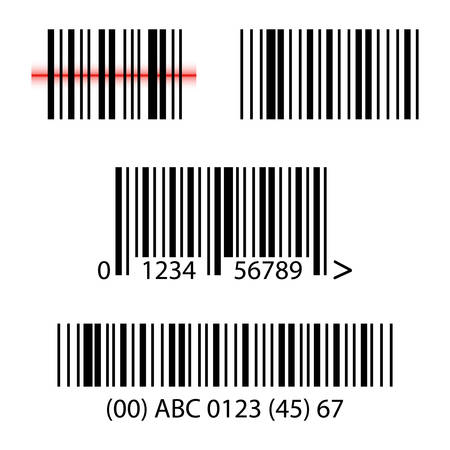 Set, collection of barcodes isolated on white background. Ilustrace