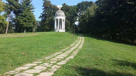 gazebo: Craiova Park Gazebo Stock Photo