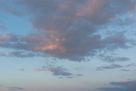 sky with clouds and sun 写真素材
