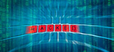 Red HACKED Key Keyboard Background