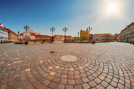 Union Square (Piata Unirii), one of the most beautiful squares of Timisoara, Romania-JUNE 5, 2019 Editoriali