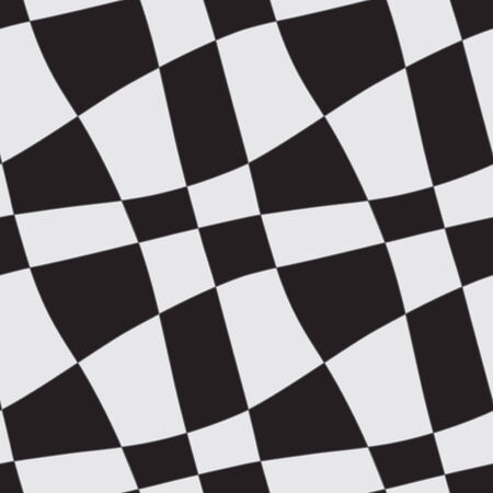 flexure: Seamless abstract geometric white and black chess ornament