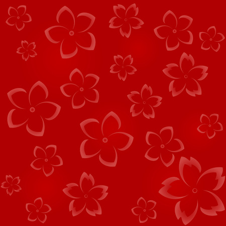 hues: Seamless floral pattern in red hues