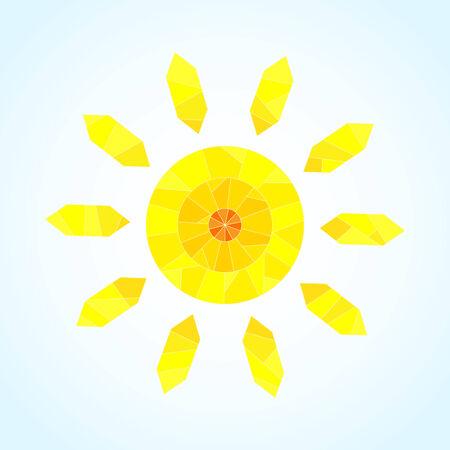 segmented: Abstract segmented sun, vector pattern