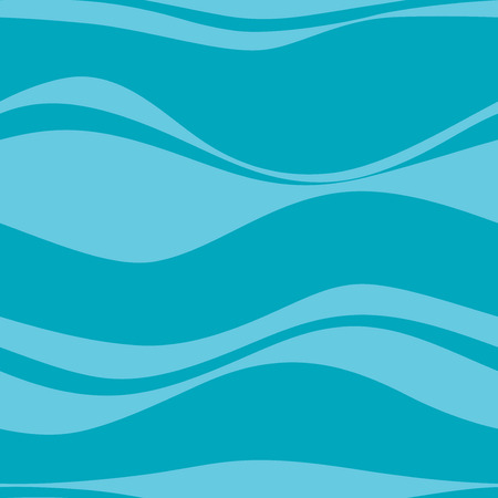 blue waves vector: Seamless pattern with blue waves, vector Illustration