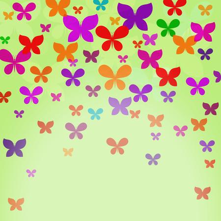 translucent: Pattern con colorate farfalle traslucidi. Vettoriali