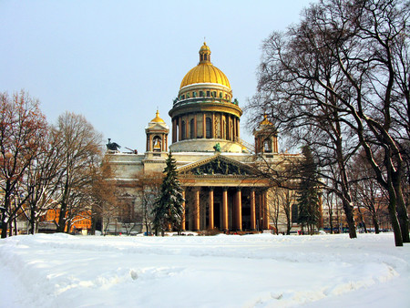 isaac: Isaac Cathedral in winter, Saint-Petersburg, Russia