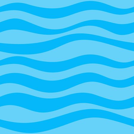 Seamless Pattern With Calm Waves Blue Colours Vector