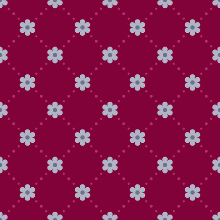 vinous: Seamless vinous pattern with blue flowers