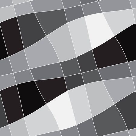 curvature: Seamless abstract geometric white to black gradient ornament