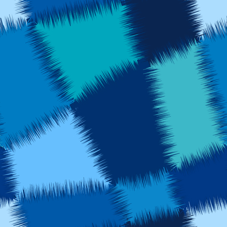 fantastical: Seamless abstract geometric pattern in blue colours