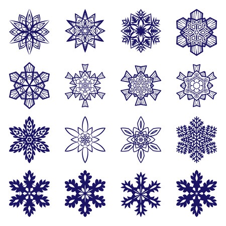 intricate: Intricate snowflakes collection