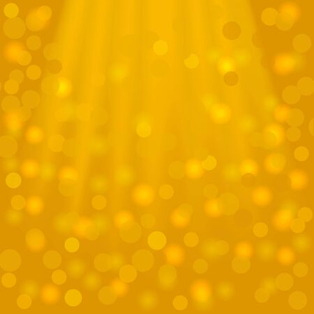 goldish: Festive golden square background with beams and bokeh