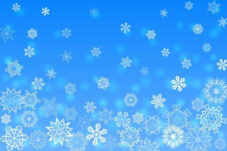 blue snowflakes: Christmas light blue orthogonal background with snowflakes Illustration