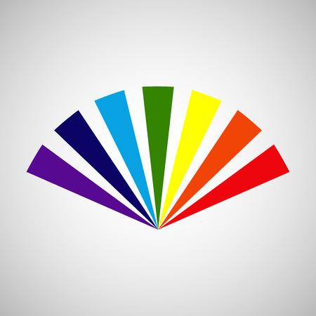 hot temper: Rainbow ventilador estilizada