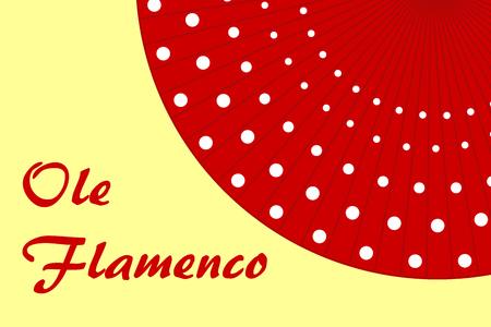 Priorità bassa del ventilatore del polka-dot rosso di Flamenco