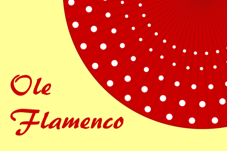hot temper: Flamenco red polka-dot fan background