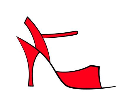 sandal: Elegante sandalia de punta abierta en un alto talón