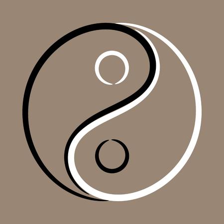 Yin Yang symbol vignette