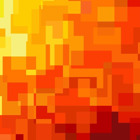 right angled: Abstract orange background consisted of rectangles
