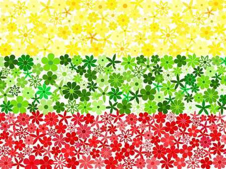 lithuania: Floral mosaic Lithuania flag