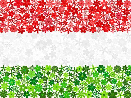 hungarian: Floral mosaic Hungarian flag