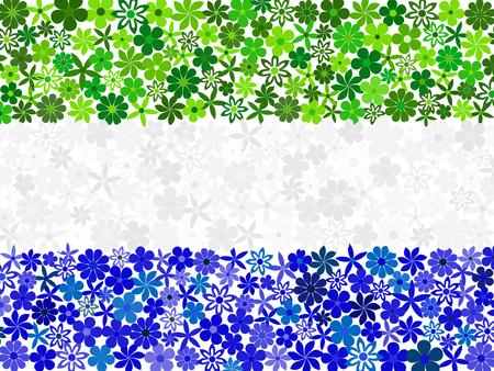 sierra: Floral mosaic Sierra Leone flag Illustration