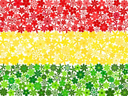 mosaic: Floral mosaic Bolivian flag