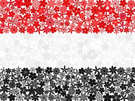 yemen: Floral mosaic Yemen flag Illustration