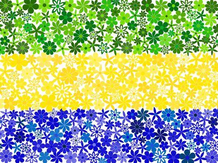 gabon: Floral mosaic Gabon flag