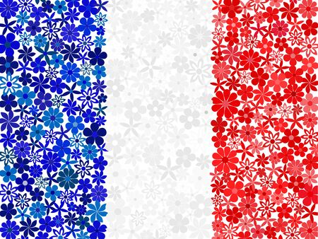 french flag: Floral mosaic French flag