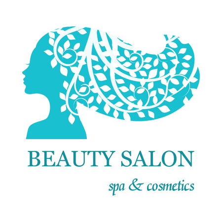 countenance: for beauty salon with female face silhouette Illustration
