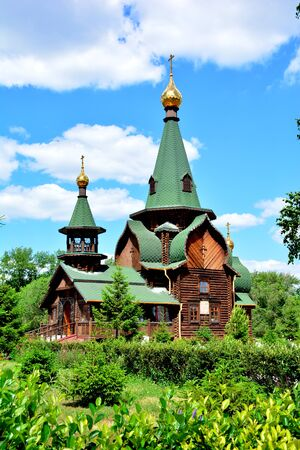 cossack: All Saints Church in Omsk, Siberia, Russia Stock Photo