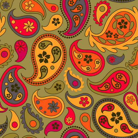 cucumbers: Seamless pattern with colourful turkish cucumbers on green background Illustration