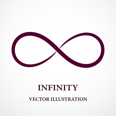 Abstract infinity symbol. Vector design. Creative concept.