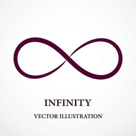 Abstract oneindigheidssymbool. Vector design. Creatief concept.