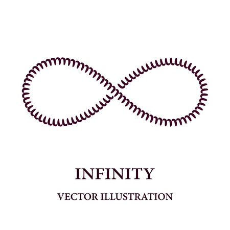 eternally: Abstract spiral like infinity symbol consisted of simple elements Illustration